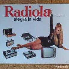 Radios antiguas: CARTEL O PÓSTER RADIOLA - ASKAR, S.A. - ORIGINAL 1970. Lote 202961326