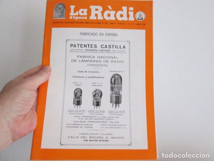 LA RADIO DE EPOCA AÑO 3 PRIMERA EPOCA NUMERO 17 ASOCIACION ACAR OCTUBRE1998 (Radios, Gramófonos, Grabadoras y Otros - Catálogos, Publicidad y Libros de Radio)