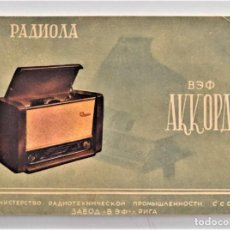 Radios antiguas: CATÁLOGO DE UNA RADIO DEL AÑO 1956 DE UN PAÍS DEL ESTE (GUERRA FRÍA). Lote 203379531