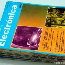 Radios antiguas: 11 NÚMEROS DE LA REVISTA ESPAÑOLA DE ELECTRÓNICA 1980. Lote 203523966