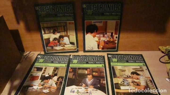 ELECTRÓNICA EN 30 LECCIONES , FASCÍCULOS 1,2,4,5,Y 6 EN BUEN ESTADO. (Radios, Gramófonos, Grabadoras y Otros - Catálogos, Publicidad y Libros de Radio)