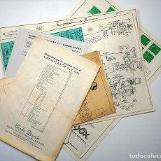 Radios antiguas: 5 ESQUEMAS ELECTRÓNICOS: TV, AMPLIFICADOR Y RADIOCASSETTE. Lote 204787905