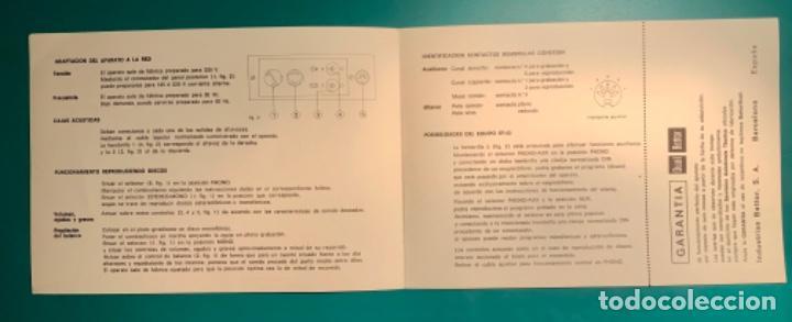 Radios antiguas: INSTRUCCIONES DE MANEJO EQUIPO ESTEREOFÓNICO COMPACTO EF 43 BETTOR AÑO 1973 - Foto 2 - 205321855
