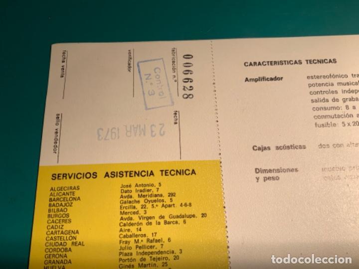Radios antiguas: INSTRUCCIONES DE MANEJO EQUIPO ESTEREOFÓNICO COMPACTO EF 43 BETTOR AÑO 1973 - Foto 4 - 205321855