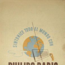 Radios antiguas: ANTIGUA LISTA DE EMISORAS DE ONDA CORTA DE PHILIPS RADIO.. Lote 205586353