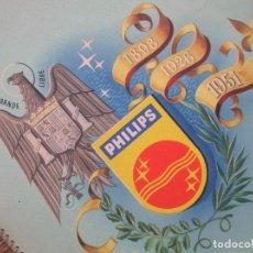 Radios antiguas: ONDAS Y ESTRELLAS PHILIPS EN ESPAÑA. ESCUDO EN PORTADA DE AGUILA DE SAN JUAN. EPOCA DE FRANCO. 1951.. Lote 205828425