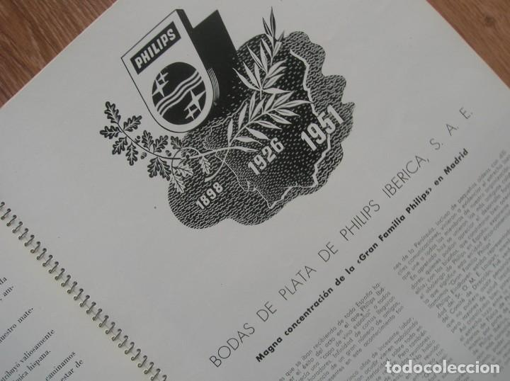 Radios antiguas: ONDAS Y ESTRELLAS PHILIPS EN ESPAÑA. ESCUDO EN PORTADA DE AGUILA DE SAN JUAN. EPOCA DE FRANCO. 1951. - Foto 5 - 205828425