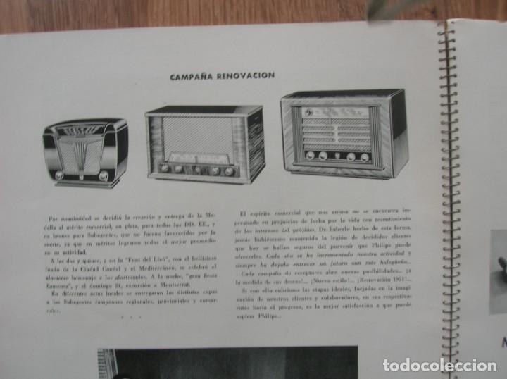 Radios antiguas: ONDAS Y ESTRELLAS PHILIPS EN ESPAÑA. ESCUDO EN PORTADA DE AGUILA DE SAN JUAN. EPOCA DE FRANCO. 1951. - Foto 6 - 205828425