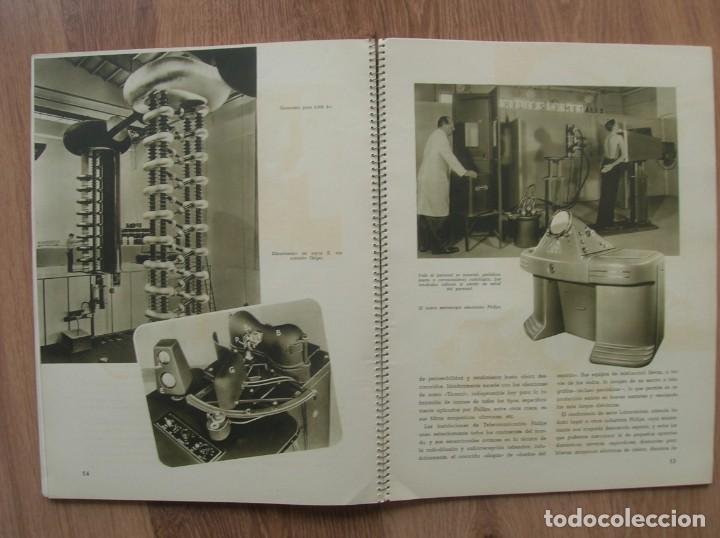 Radios antiguas: ONDAS Y ESTRELLAS PHILIPS EN ESPAÑA. ESCUDO EN PORTADA DE AGUILA DE SAN JUAN. EPOCA DE FRANCO. 1951. - Foto 10 - 205828425