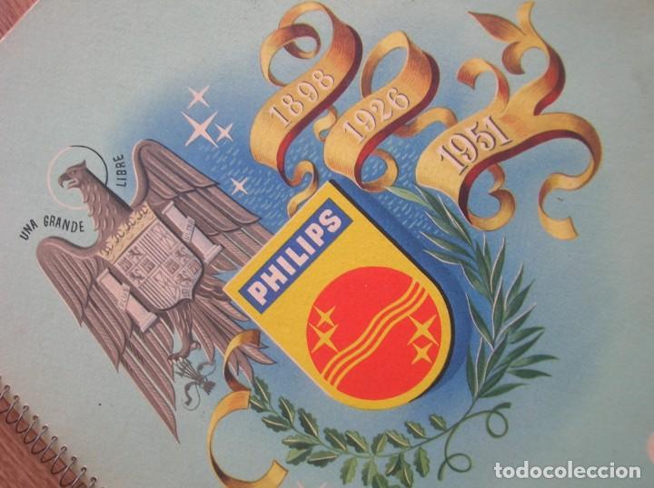 Radios antiguas: ONDAS Y ESTRELLAS PHILIPS EN ESPAÑA. ESCUDO EN PORTADA DE AGUILA DE SAN JUAN. EPOCA DE FRANCO. 1951. - Foto 11 - 205828425