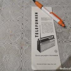 Radios antiguas: RADIO SAFARI F. M. TELEFUNKEN ANTIGUO ANUNCIO PUBLICIDAD REVISTA. Lote 206591003