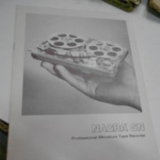 Radios antiguas: CATALOGO PROFESSIONAL MINIATURE TAPE RECORDER NAGRA SN. Lote 206939583