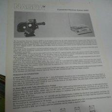 Radios antiguas: FICHA DESCRIPTIVA COMPONENTE NAGRA. Lote 206940002