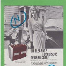 Radios antiguas: PUBLICIDAD T 1961. ANUNCIO TOCADISCOS EXACTA. Lote 207219002