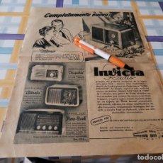 Radios antiguas: RADIO INVICTA ANTIGUO ANUNCIO PUBLICIDAD REVISTA. Lote 208141737