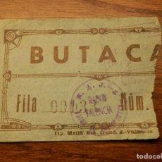 Radios antiguas: ENTRADA - SELLO DE RADIO VALENCIA - 18 DE ABRIL DE 1958. Lote 209308172
