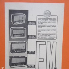 Radios antiguas: PUBLICIDAD 1960 - RADIO MARCONI. Lote 210008308