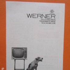 Radios antiguas: PUBLICIDAD 1964 - TELEVISOR TELEVISORES WERNER. Lote 210009663