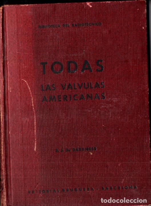 DARKNESS : TODAS LAS VÁLVULAS AMERICANAS (BRUGUERA, C. 1945) CON LA LÁMINA DE 60X80 CM. (Radios, Gramófonos, Grabadoras y Otros - Catálogos, Publicidad y Libros de Radio)