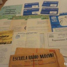 Radios antiguas: ANTIGUO CONJUNTO DE FOLLETOS.CURSO DE RADIO MAYMO. AÑOS 60. Lote 212234892