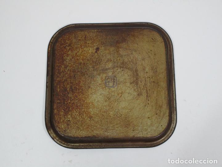 Radios antiguas: Bandeja Publicitaría - Gramófono - La Voz de Su Amo - Metal Litografiado - Foto 2 - 212987348