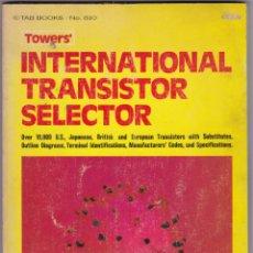 Radio antiche: TOWERS´ INTERNATIONAL TRANSISTOR SELECTOR. Lote 213883246