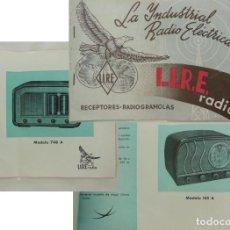 Radios antiguas: CATÁLOGO : LA INDUSTRIAL RADIO ELÉCTRICA, L.I.R.E. RADIO. RECEPTORES, RADIOGRAMOLAS. Lote 214200272