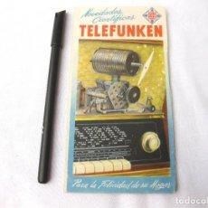 Radios antiguas: CATÁLOGO DE RADIOS TELEFUNKEN. 1954. RADIOS DE BAQUELITA Y MADERA.. Lote 214906758