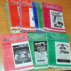 Radios Anciennes: LOTE DE 13 REVISTAS DE RADIO: RADIOELECTRICIDAD - NÚMEROS 143 (FEBRERO 1951) AL 155 (FEBRERO 1952). Lote 214933766