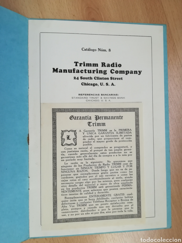 Radios antiguas: TRIMM Radio. Chicago 1924. - Foto 2 - 216709963