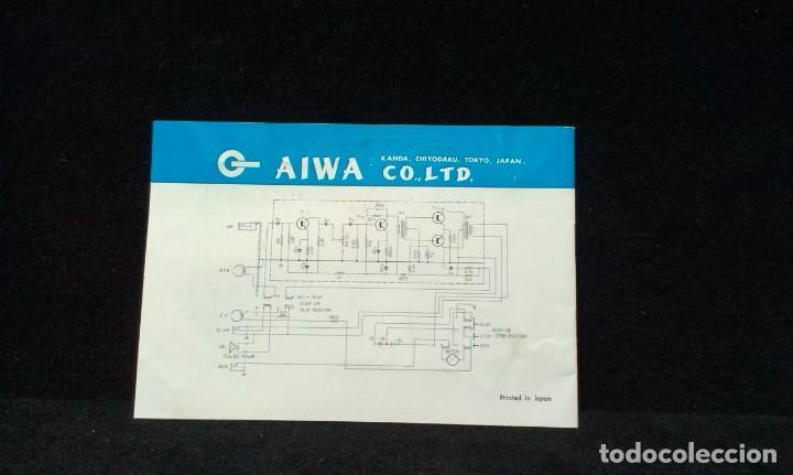 Radios antiguas: INSTRUCCIONES - AIWA TP-60R - TRANSISTOR - TAPE - RECORDER - AÑOS 60 - Foto 3 - 217614246