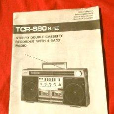 Radios antiguas: SANKEI RADIO CASSETTE - MANUAL DEL PROPIETARIO - INSTRUCCIONES USO - MOD. TCR-S90 STEREO DOUBLE CASS. Lote 217652065