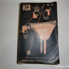 Radios antiguas: LIBRO DE RADIO DE VALVULAS DE RECEPCION MANUAL. Lote 217653073