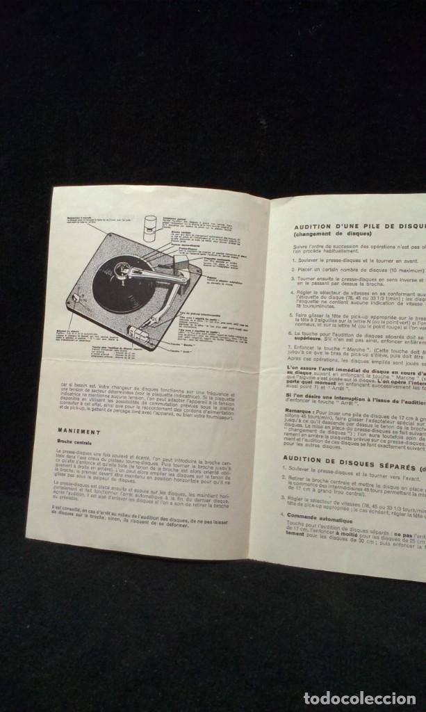 Radios antiguas: INSTRUCCIONES TOCADISCOS - AG 1003 - Foto 2 - 218209710