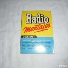 Radios antiguas: RADIO MONTAJES Nº 14.-JUNIO 1956.-R.J.DE DARKNESS.COMPETIDOR:RECEPTOR RADIOFRECUENCIA ONDA NORMAL. Lote 220692726