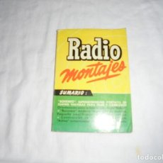 Radios antiguas: RADIO MONTAJES Nº 12.-ABR 1956.-R.J.DE DARKNESS.BOHEMIO,SUPERHETERODINO PORTATIL DE 4 VALVULAS PARA. Lote 220692910