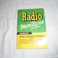 Radios antiguas: RADIO MONTAJES Nº 10.-FEBR 1956.-R.J.DE DARKNESS.BAGDAD,SUPERHETERODINO UNIVERSAL 4 VALVULAS AMERICA. Lote 220693763
