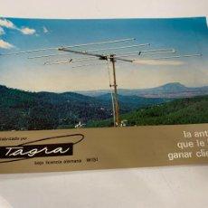Radios antiguas: ANTIGUA PUBLICIDAD ANTENA DE TV TAGRA. TAMAÑO CUARTILLA. IMPECABLE. Lote 221389396