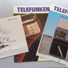 Radios antiguas: PUBLICIDAD Y LIBRO INSTRUCCIONES EQUIPO COMPACTO TELEFUNKEN RCS 211. Lote 221455186