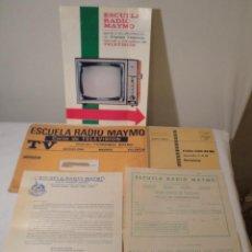 Rádios antigos: CURSO TEÓRICO TELEVISIÓN RADIO MAYMÓ, CARTA, INSCRIPCIÓN, PLAN DE ESTUDIOS. AÑO 1970. Lote 221500365