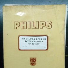 Radios antiguas: ELECTRONICA, FOLLETO, MANUAL INSTRUCCIONES OSCILOSCOPIO RAYOS CATODICOS PHILIPS - 21 X 30 CM.. Lote 221677305
