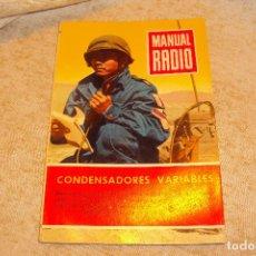 Radios antiguas: MANUAL DE RADIO Nº18. Lote 221799560