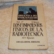 Radios antiguas: BIBLIOTECA DEL RADIOAMATEUR, VOL Nº1. Lote 221801122