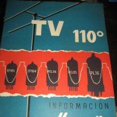 Radios antiguas: 2 REVISTA MINIWATT TELEVISION TV . AÑO 1961. Lote 222282880