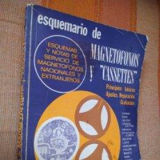 Radios antiguas: ESQUEMARIO DE MAGNETÓFONOS Y CASSETTES. I/1970.. Lote 222382307