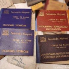 Radios antiguas: CURSO DE RADIO POR CORREO F. MAYMÓ GOMIS. Lote 222719925