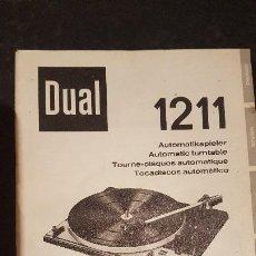 Rádios antigos: TOCADISCOS DUAL 1211 - MANUAL DE INSTRUCCIONES. Lote 222946553