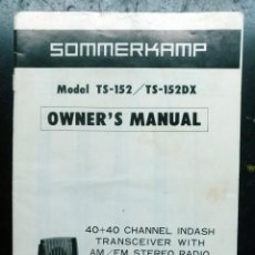 Radios antiguas: ELECTRONICA, MANUAL INSTRUCCUIONES EMISORA TRANSCEIVER SOMMERKAMP. Lote 223024655