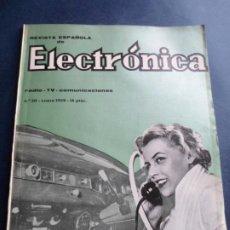 Radios antiguas: REVISTA DE ELECTRONICA ESPAÑOLA N 50 DE ENERO DEL AÑO 1959. Lote 223273435