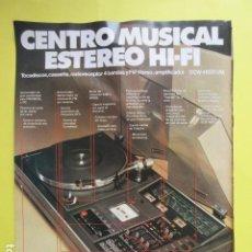 Radios antiguas: PUBLICIDAD 1978 - COLECCION ELECTRONICA - SANYO COMPACTO CENTRO MUSICAL DCW4800UM 21 X 27 CM. Lote 224602132